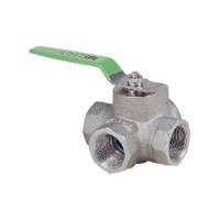 キッツ ステンレス鋼製汎用ボールバルブ<三方>800型 2  UTH4TM-50A 1個 (直送品)