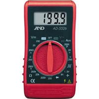 エー・アンド・デイ(A&D) デジタルマルチメーター汎用コンパクト形52X95X26mm AD5526 1台 296-0885 (直送品)