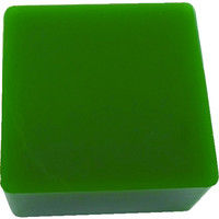エクシールコーポレーション 防振・緩衝ブロック ゲルダンパー 緑 100X100mm 50-100 1個 410-5958 (直送品)