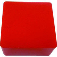 エクシールコーポレーション 防振・緩衝ブロック ゲルダンパー 赤 100X100mm 70-100 1個 410-5974 (直送品)
