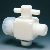 フロンケミカル テフロン 二方バルブ装置用 12φ  NR0023-04 1個  (直送品)