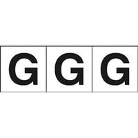 トラスコ中山(TRUSCO) アルファベットステッカー 30×30 「G」 白 3枚入 TSN-30-G 1組(3枚) 438-8461 (直送品)