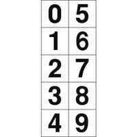 トラスコ中山(TRUSCO) 数字ステッカ- 30×30 「0〜9」連番 白 1枚入 TSN-30-10 1枚 438-8321 (直送品)