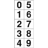 トラスコ中山(TRUSCO) 数字ステッカー 50×50 「0〜9」連番 白 1枚入 TSN-50-10 1枚 438-9107 (直送品)