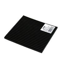 光 筋ゴム(ブラック)5×100mm角  CG5-10-3 1セット(6個:1個入×6)  (直送品)