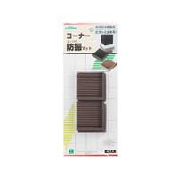光 エッジ付防振(茶)  BG00-507 1セット(3パック:4個入×3)  (直送品)