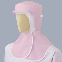 ミドリ安全 フード (ツバ付・マスク掛け・マジックタイプ) SH17P ピンク フリー 3189103720 1着  (直送品)