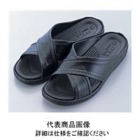 アズワン 研究者用サンダル アクティブタイプ 黒 M No.1400 1足 1-9535-11 (直送品)