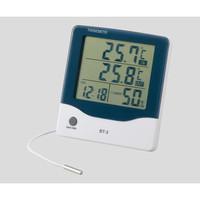 アズワン アラーム時計付大画面温湿度計BT-3 1個 2-897-01 (直送品)