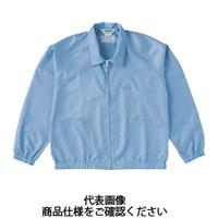 トラスコ中山(TRUSCO) 制電糸グリッド仕様ジャケット(衿付) ブルー 3L TCLGJ-B-3L 1着 474-8522 (直送品)