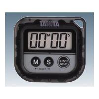 タニタ(TANITA) 丸洗いタイマー(100分計) ブラック 1セット(2台) 1-6417-02 (直送品)