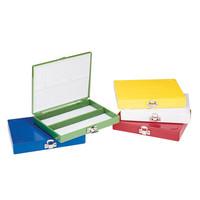 カラースライドボックス 100枚用 緑 2-5377-02 (直送品)
