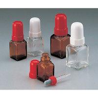 マルエム スポイド瓶(角型ガラス製) 120mL 褐 1セット(10本) 5-135-05 (直送品)