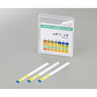 アズワン pH試験紙 14.0 スティック 1箱(100枚入) pH0-14 1セット(500枚:100枚×5箱) 1-1267-01 (直送品)