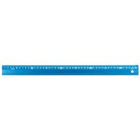シンワ測定 アルミ直尺 アル助 シャイニングブルー 45cm 65423 1箱(20本入) (直送品)