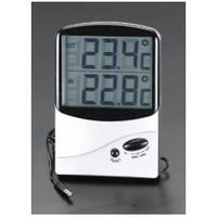 esco(エスコ) [室内・室外]最高・最低温度計(デジタル) EA728AC-15 1セット(2個) (直送品)