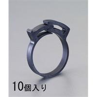 esco(エスコ) 22.0-25.0mmホースクランプ(ナイロン製/ギア式/10個) EA463SD-25 1セット(80個:10個×8パック) (直送品)