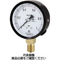 長野計器 普通形圧力計(A枠立形・φ75・G3/8B・0.0〜0.60Mpa) AC20-131-0.6MP 1個 498-4323 (直送品)