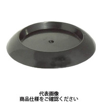 トラスコ中山(TRUSCO) 受け皿 60MM 黒 10個入 TUK600-BK-10 1袋(10個) 765-8940 (直送品)