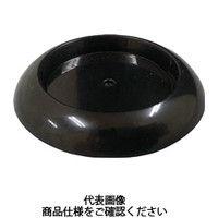 トラスコ中山(TRUSCO) 受け皿 ゴム付 71.5MM 黒 TUR715-BK 1個 765-9091 (直送品)