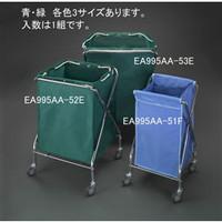 esco(エスコ) 415x409x751mmダストカート(エコ袋(青)付) EA995AA-51F 1個 (直送品)