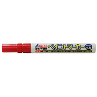 シンワ測定 工事用 ペイントマーカー 中字 丸芯 赤 78415 1セット(10本) (直送品)