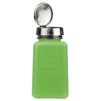 DESCO 静電気拡散性ボトル、緑、ワンタッチ、HDPE、180cc 35273 1セット(10個入)  (直送品)