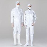 ミドリ安全 無塵服 クリーンウェア 一般型男女共用クリーンスーツS1080W ホワイト L 3148002105 1着 (直送品)