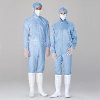 ミドリ安全 無塵服 クリーンウェア 一般型男女共用クリーンスーツS1080B ブルー 5L 3148002209 1着 (直送品)