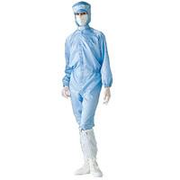 ミドリ安全 無塵服 クリーンウェア 一般型クリーンスーツ S1313Bブルー LL 3148000906 1着 (直送品)