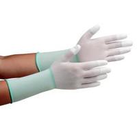 ミドリ安全 クリーンルーム用手袋 作業手袋 MCGー501Nロング(指先コーティング) 10双/袋 4045850082 1袋(10双入) (直送品)