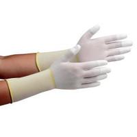 ミドリ安全 クリーンルーム用手袋 作業手袋 MCGー501Nロング(指先コーティング) LL 10双/袋 4045850084 1袋(10双入) (直送品)