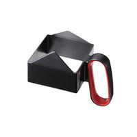 タカラ産業 洗浄カゴ・バット 角パック用取手 酒パックホルダーSP-HOLDER-R ブラック×レッド 374022 1セット(40個入) (直送品)