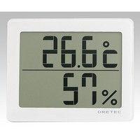 アズワン ソーラーデジタル温湿度計 ホワイト 1セット(2個) 8-1493-01 (直送品)