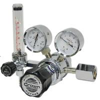 ユタカ 計測機器 ブラス製流量計付二段式精密圧力調整器 ヘリウム用 GF2-2506-HN-F30 1個 (直送品)