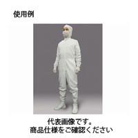 コクゴ 無塵服 CJ1032 フロントファスナークリーンスーツ Lホワイト 104-9630103 1着 (直送品)
