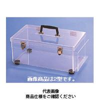 コクゴ 乾燥剤タイプ デシケーター キャリーボックス(帯電防止アクリル) 1型 101-14202 1台 (直送品)
