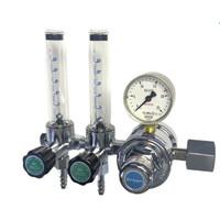 ユタカ 計測機器 二連流量計付ニ段式圧力調整器 アルゴン用 FR-IIW 1個 (直送品)