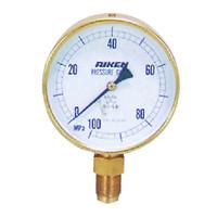理研機器(RIKEN) 普通型圧力計 AS125-100M AS125-100M 1個 (直送品)
