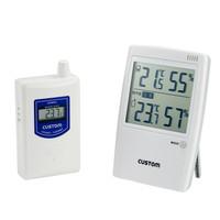 カスタム 熱中症指数インジケーター付 無線温湿度モニター HI-01RF 1セット (直送品)