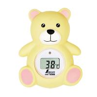 シンワ測定 風呂用デジタル温度計 B クマ 73098 1セット(5個) (直送品)