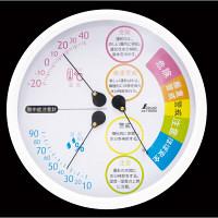 シンワ測定 熱中症注意 丸型 15cm ホワイト 70505 1セット(5個) (直送品)