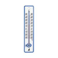 温度計 プラスチック製 20cm ブルー 48351 1セット(20個) シンワ測定 (直送品)