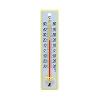 温度計 プラスチック製 20cm イエロー 48352 1セット(20個) シンワ測定 (直送品)