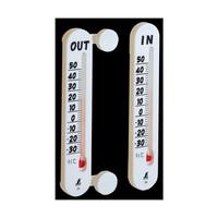 温度計 プチサーモ ツイン 室内・室外 72957 1セット(10個) シンワ測定 (直送品)