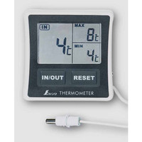 冷蔵庫用デジタル温度計 A 最高・最低 隔測式 73042 1セット(5台) シンワ測定 (直送品)