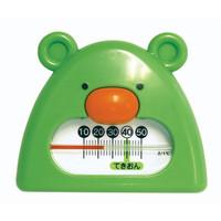 風呂用温度計 B-9 くまさん グリーン&ホワイト 73051 1セット(10個) シンワ測定 (直送品)