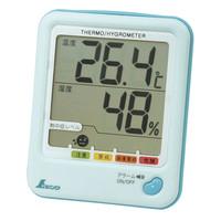 デジタル温湿度計 D-1 熱中症注意 アクアブルー 73054 1セット(5台) シンワ測定 (直送品)