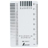 クラックスケール クリアタイプ 58697 1セット(10個) シンワ測定 (直送品)