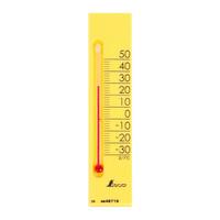 温度計 プチサーモ スクエア たて 13.5cm イエロー 48716 1セット(20個) シンワ測定 (直送品)